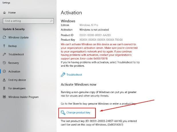 Chia sẻ Key Active Win 10 Pro 32/64 Bit