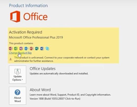 Chia sẻ Key Office 2019 kích hoạt bản quyền vĩnh viễn