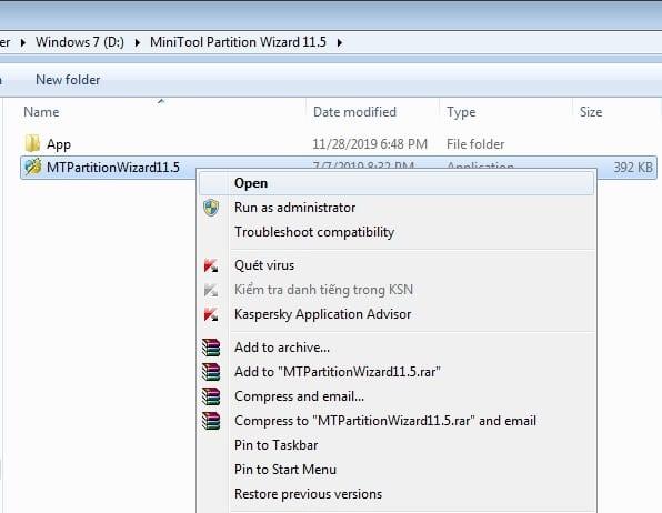 Chia sẻ Key Minitool Partition Wizard 11.5 bản quyền vĩnh viễn