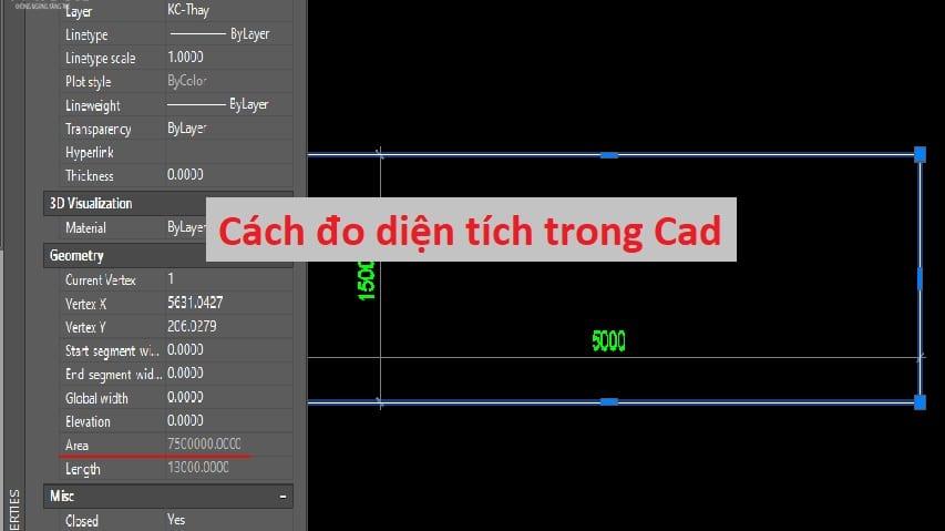 Cách đo diện tích trong Cad nhanh chính xác