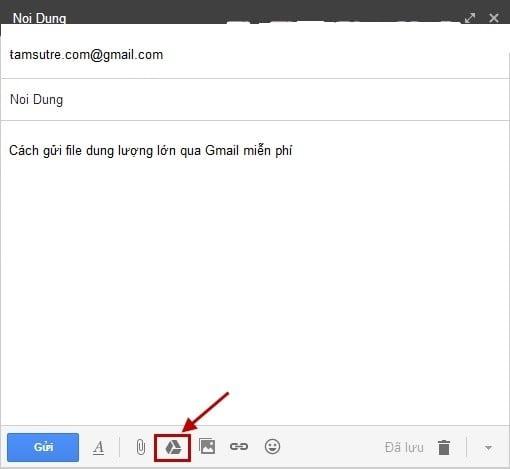 cách gửi file dung lượng lớn qua Gmail