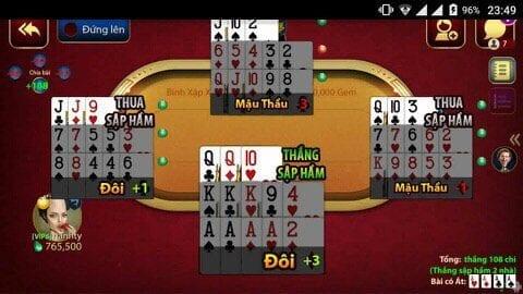 Tổng quan sơ lược về một ván bài trong game đánh bài phỏm