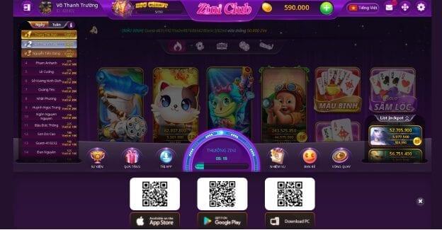 cổng game bài Zini Club