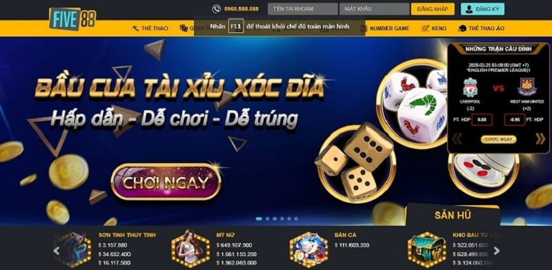 Slot game ở Five88