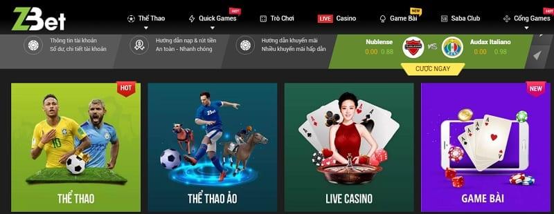 Poker tại Zbet